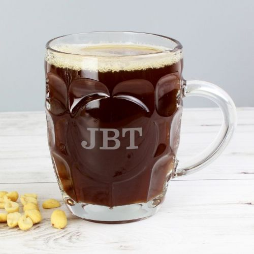Personalised Initial Dimple Pint Glass